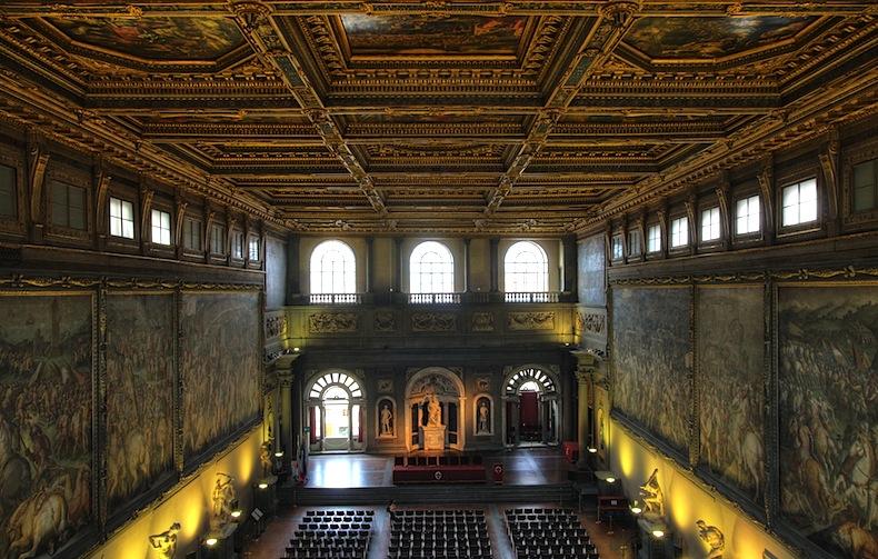 Salone dei Cinquecento - Florence - Palazzo Vecchio - great hall- зал Пятисот - Палаццо Веккьо - Флоренция