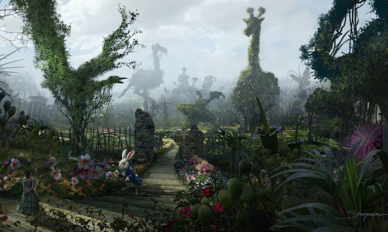 """сад из фильма Тима Бертона """"Алиса в стране чудес"""""""