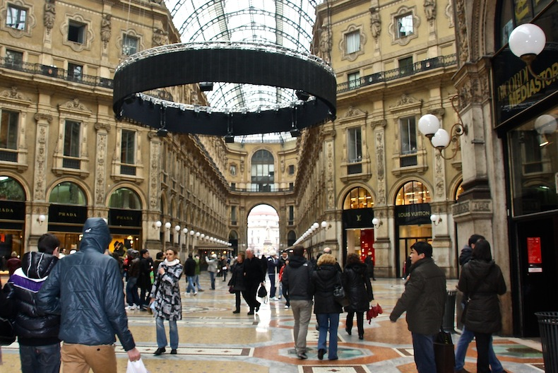 галерея виктора эммануила II, Милан, шопинг в Милане