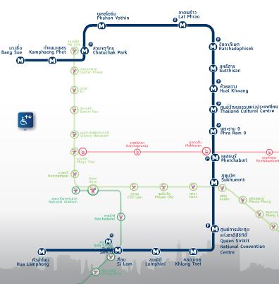 схема подземного метро Бангкока