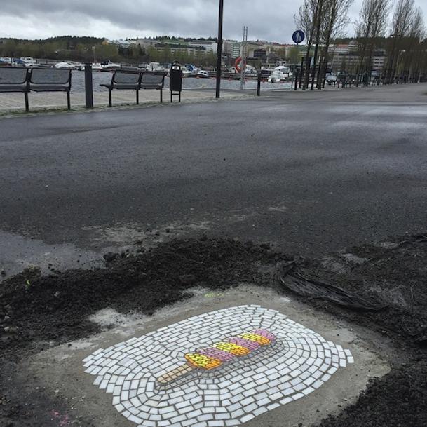 мозаика на улицах