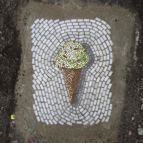 мозаика, мороженое