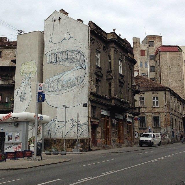 граффити, Белград, Сербия
