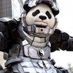 Гигантская Панда-Железный человек в китайском городе Шэньян