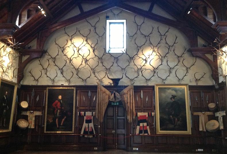 парадный зал замка Блэр Шотландия