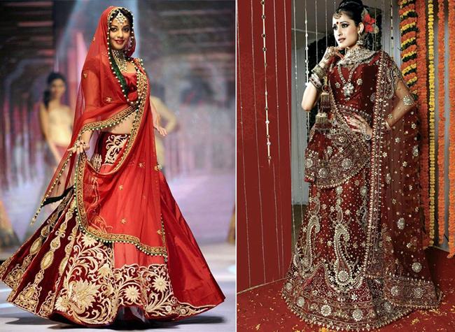 Свадебное платье индийской