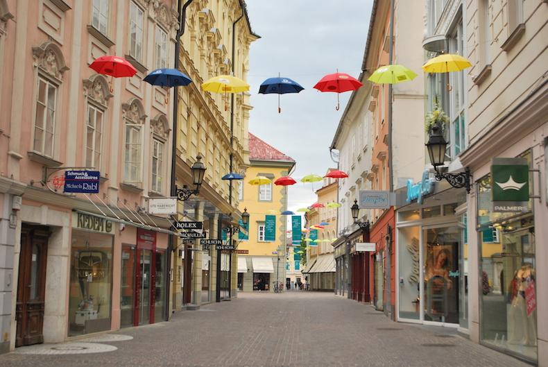 город Klagenfurt, Австрия, Каринтия