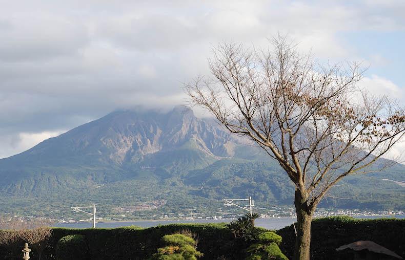Сэнганэн вид на вулкан Сакурадзима
