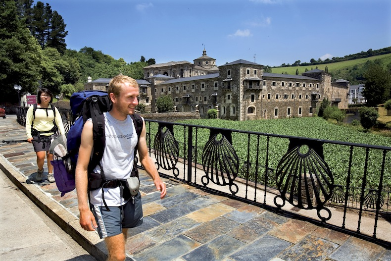 Паломники в Сантьяго-де-Компостела, Peregrinos fronte ao Mosteiro de Samos