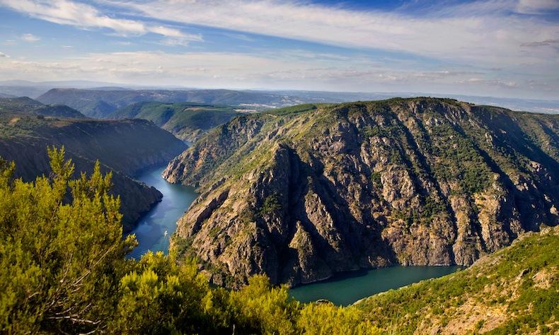 18--River Sil Canyon каньон реки Сил, Рибейра Сакра, Испания, Гасилия