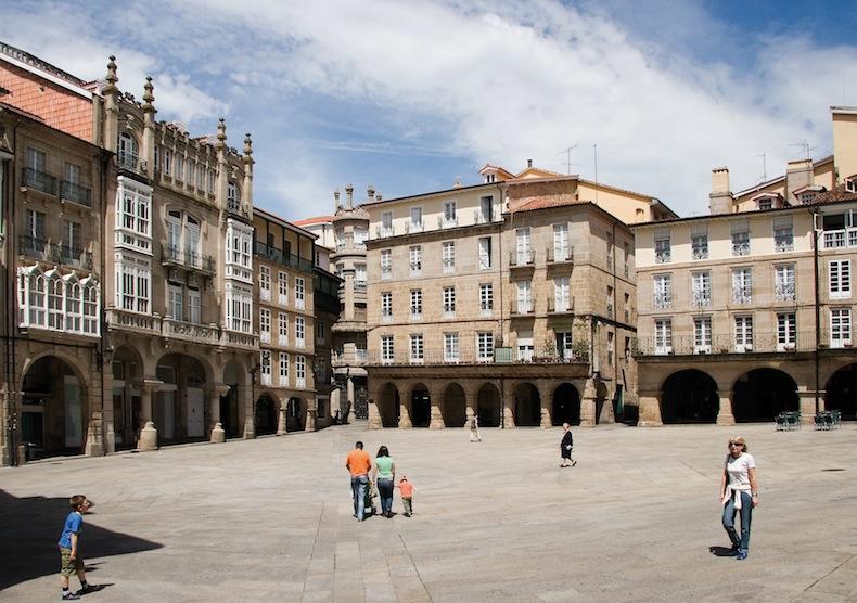 22-Praza Maior-Ourense, центральная площадь Оренсе, Галисия, Испания