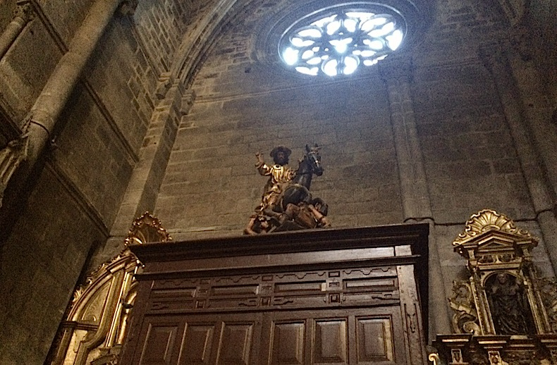 воин Святой Мартин в соборе Оренсе, Испания