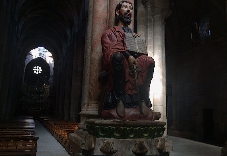 Святой Иаков в образе война в соборе города Оренсе