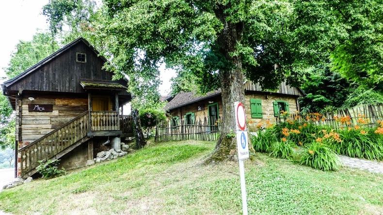 типичные дома в зоне агротуризма, Загорье, Хорватия