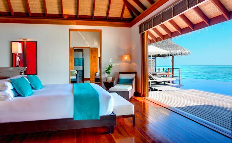 водная вилла Water Villas, отель LUX* Maldives, Мальдивы