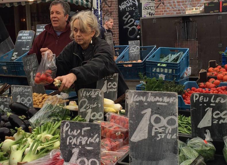 прилавок с овощами АЛЬБЕРТ КАУПМАРКТ (ALBERT CUYP MARKT)