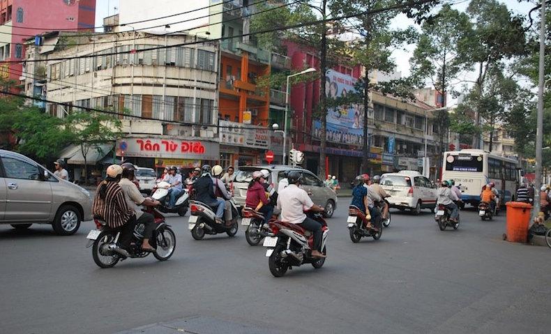 Улица Хошимина, Мотоциклы, Сайгон, Вьетнам