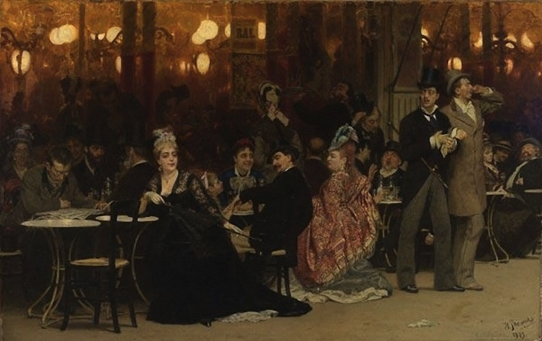 Илья Репин Парижское кафе. 1874-75 г.
