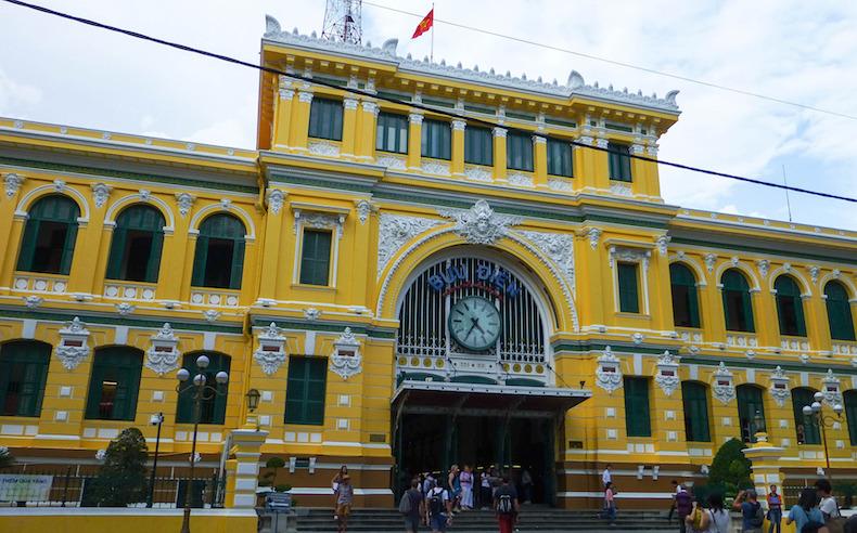 здание почты в Хошимин. Вьетнам