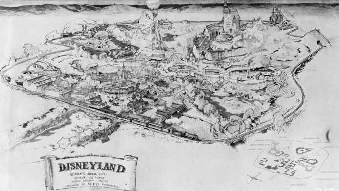 план Диснейланда