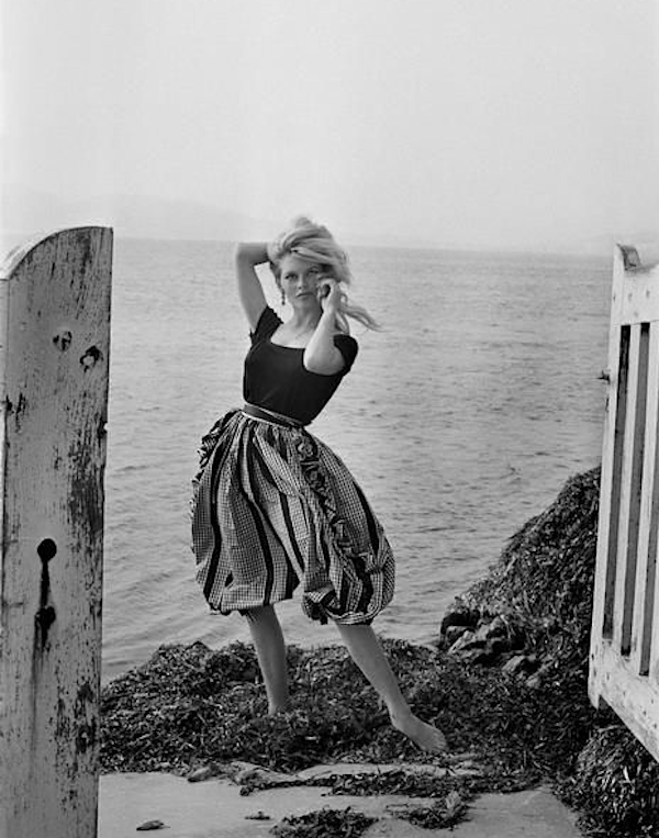 "Brigitte Bardo at her home ""La Madrague"", Var department, St. Tropez, April 14, 1960, © Nicolas Tikhomiroff"