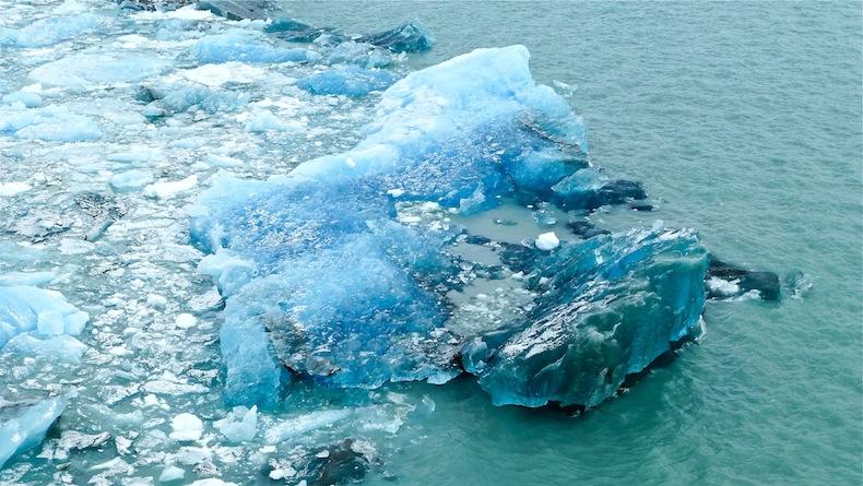 голубой лед, Эль Калафате: ледник Перито Морено в Патагонии, Аргентина