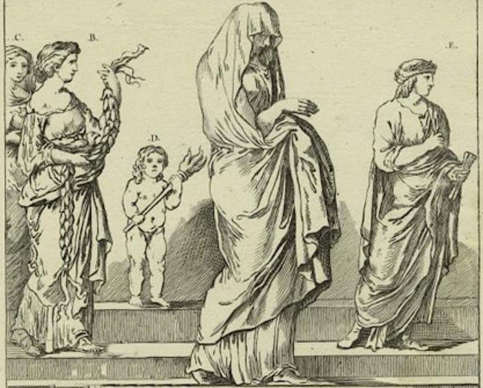 гравюра римская свадебная процессия