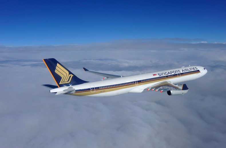 Airbus A330-300 in Singapore Airlines livery
