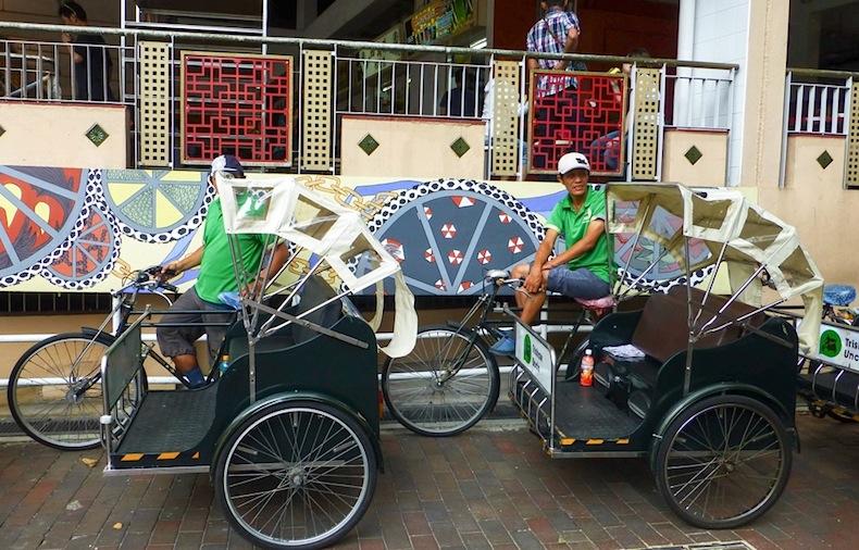 велорикши в Сингапуре
