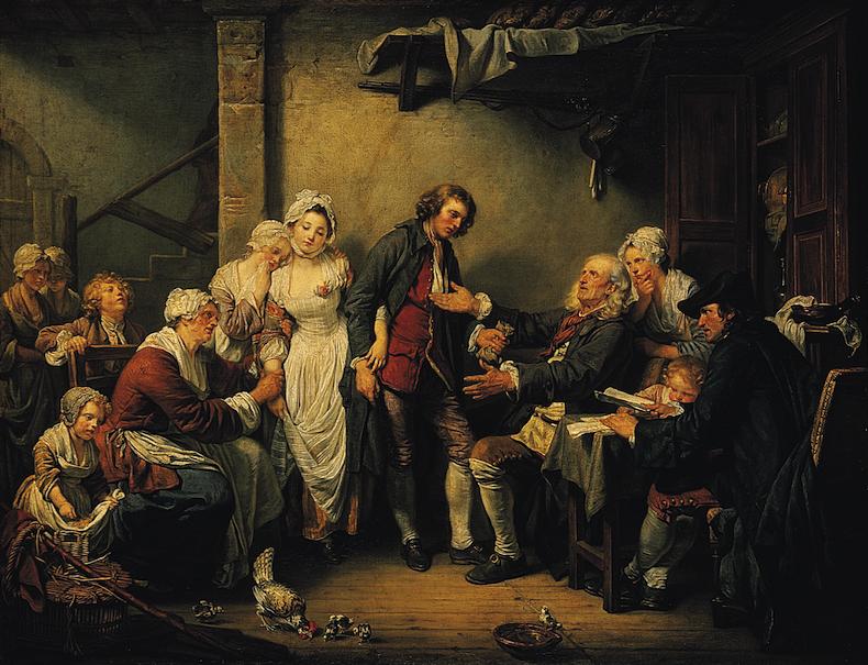 """картина """"Деревенская невеста"""", художник Жан-Батист Грёз"""