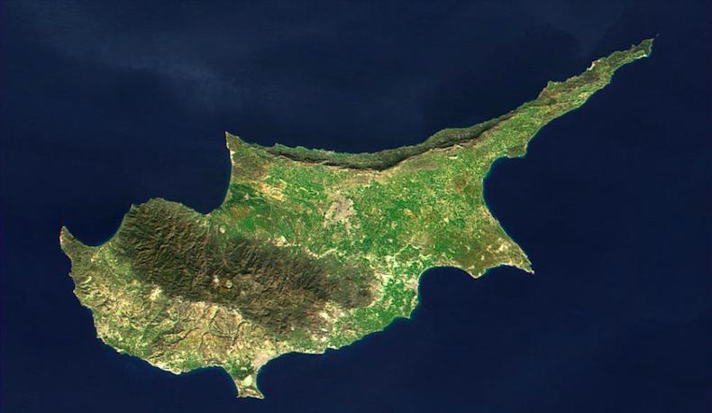 Космоснимок Кипра