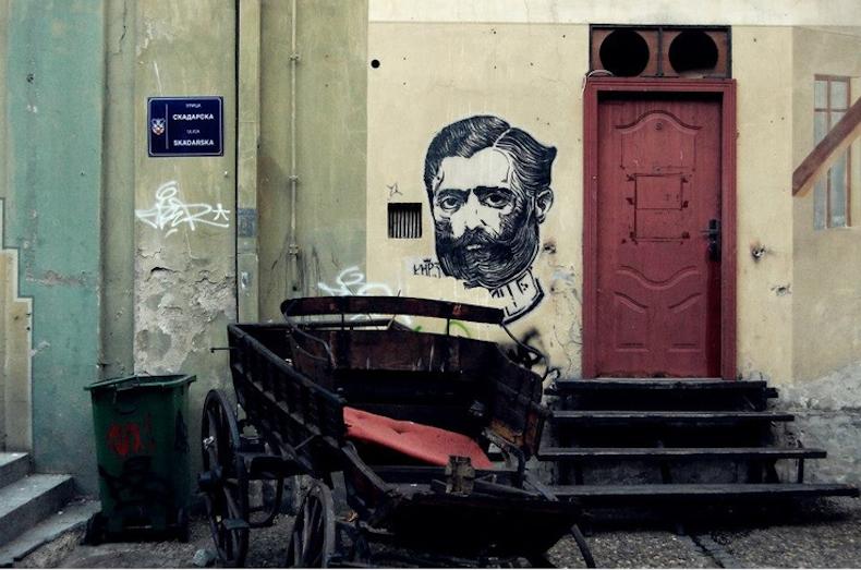 граффити в  Скадарлие