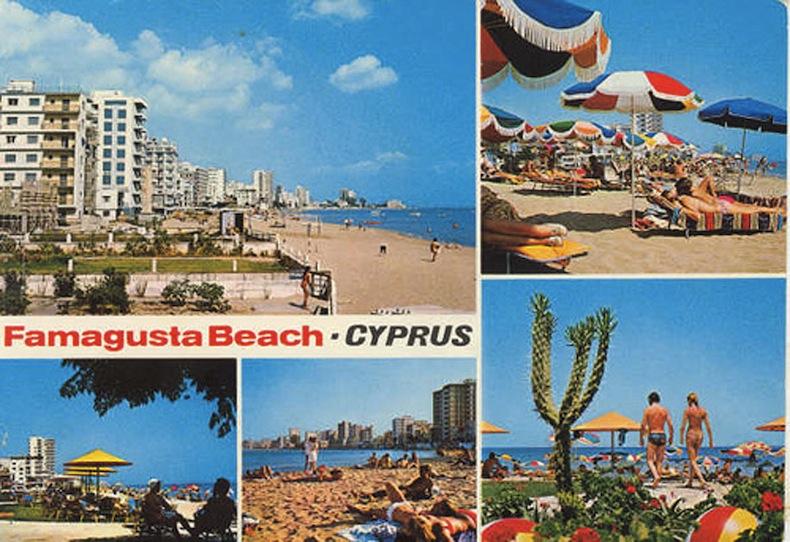Реклама пляжей Фамагусты 1970-ых