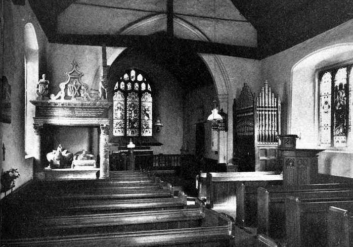 Церковь в английской деревушке Борлей графства Эссекс