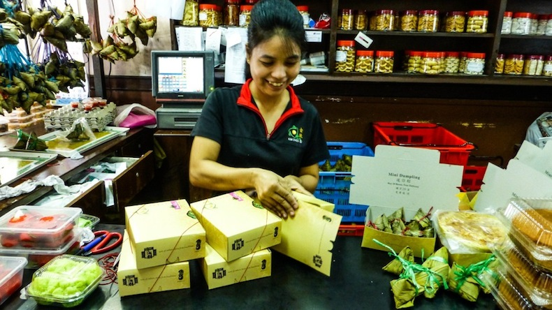 Магазин сладостей нонья в Сингапуре