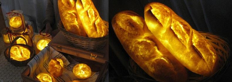 японские лампы из хлеба