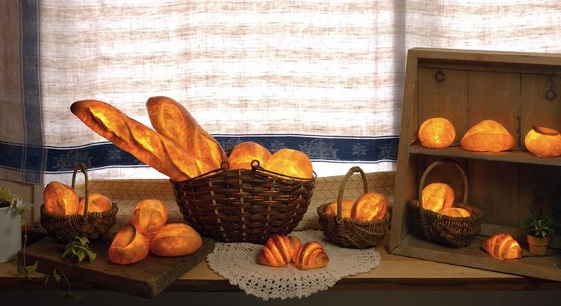 светильники из хлеба