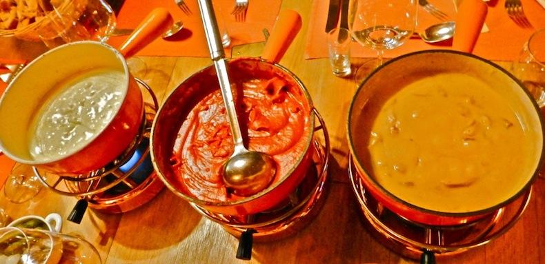 Классическое, томатное и грибное фондю