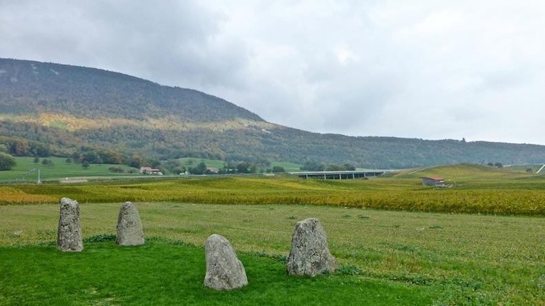 Камни неолита в регионе Женевского озера