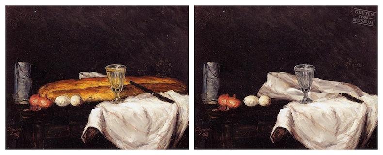Хлеб и яйца Поль Сезанн