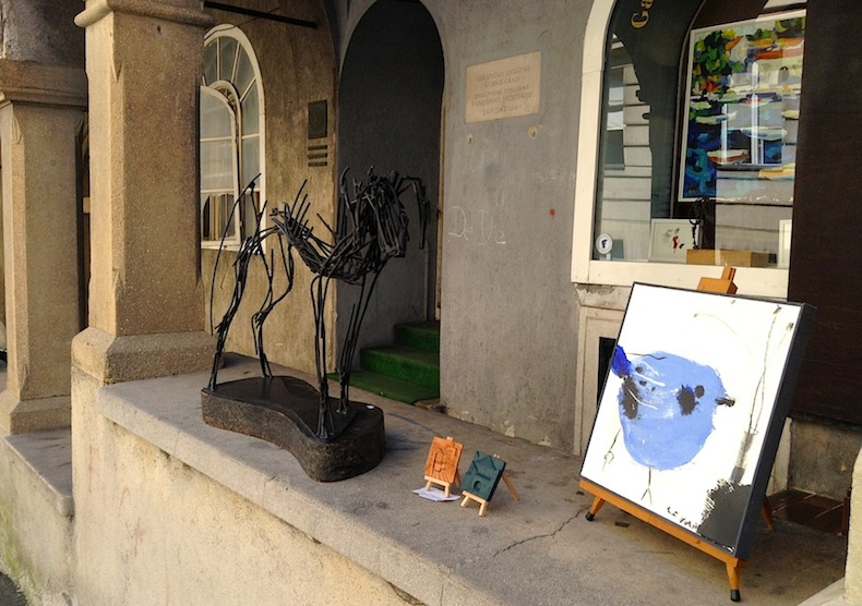 галерея в районе Горний град (второе название Медвещак)