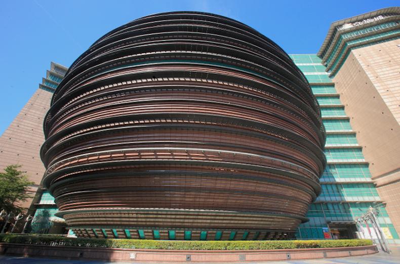 Тайбей, Тайвань Core Pacific City, современная архитектура
