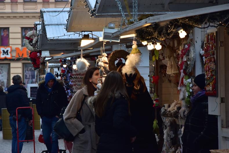 ярмарка на улице Загреба