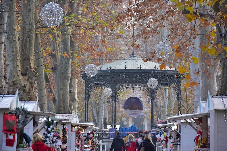 рождественская ярмарка в парке Zrinjevac