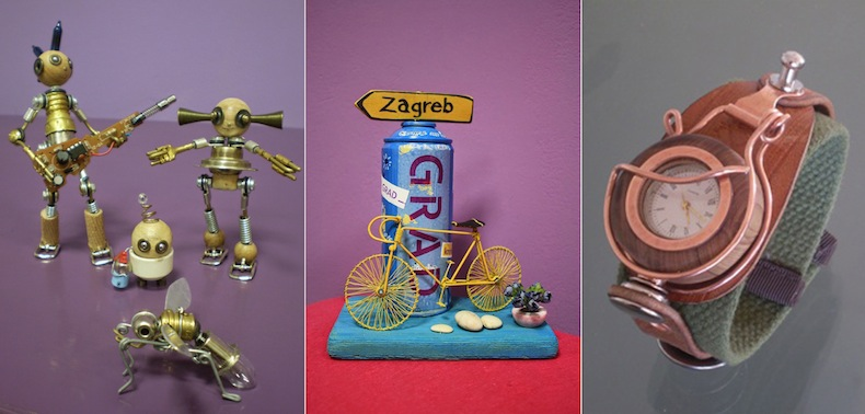 роботы, часы и сувенир Загребе