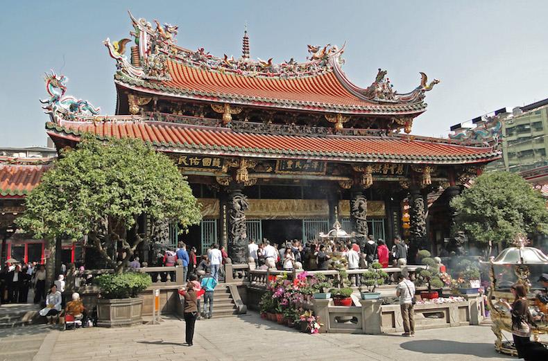 буддийский храм Lungshan 1738 года