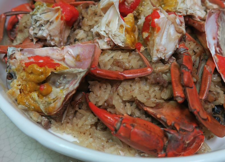 рисовый «пирог» с крабом (Rice Cake with Crab)