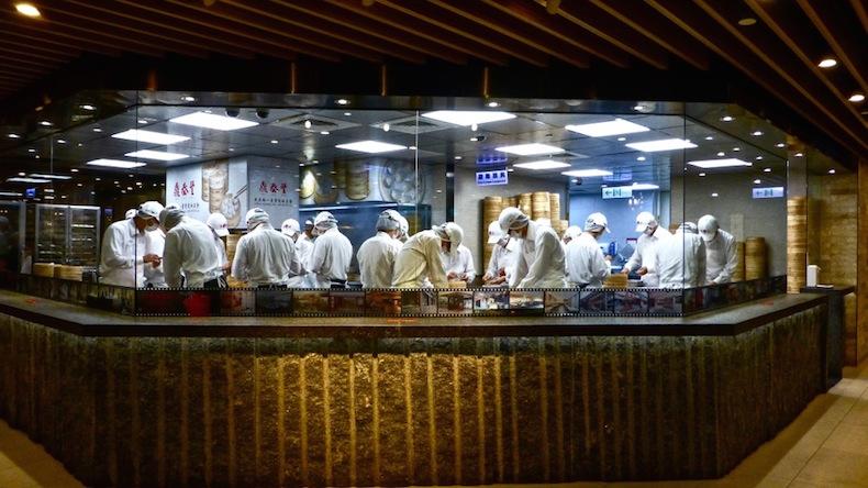 ресторан Din Tai Fung в Тайбее (Тайвань)