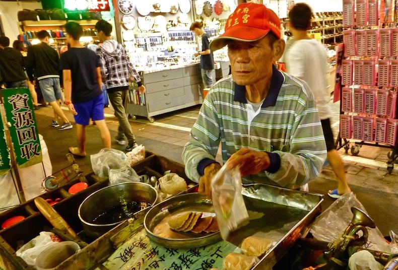 Продавец блинчиков в Fengjia