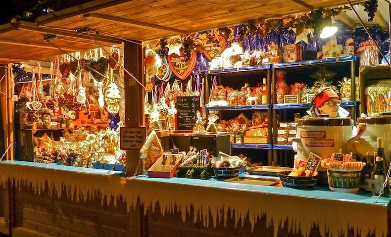 лоток с пряниками, рождественская ярмарка, Франция